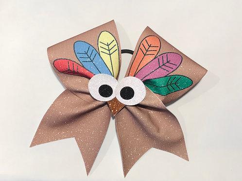 Turkey Cheer Bow