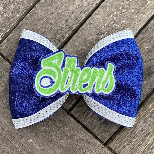 "4"" Tailless Glitter Bow W/Name"