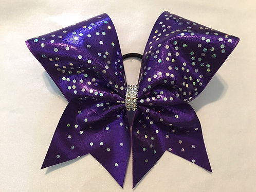 Purple Mystique Cheer Bow with Spangles