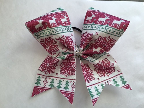 Ugly Christmas Sweater Cheer Bow