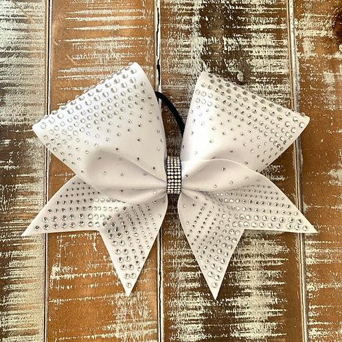 White Bow with Rhinestones