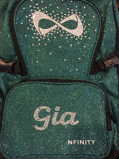 Customized Color Glitter Nfinity Backpack 3-5 Letters