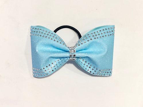 Light Blue Glitter Tailless Bow