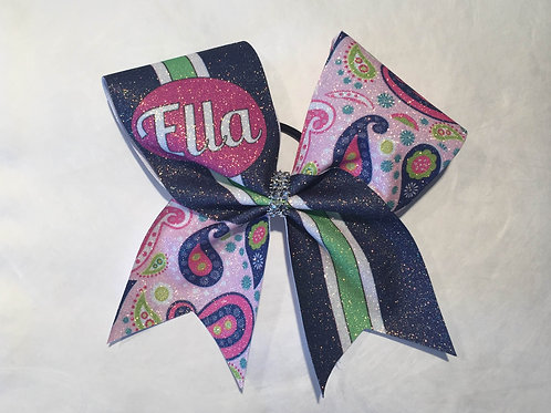 Paisley Bow with Name