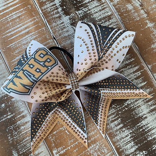 Sublimated Cheer Bow with Initials or Name