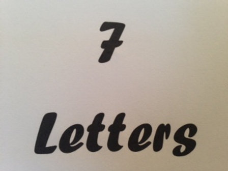 7 Letter Name Block