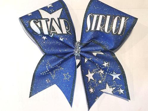 Starstruck Royal  Glitter Bow with Rhinestones