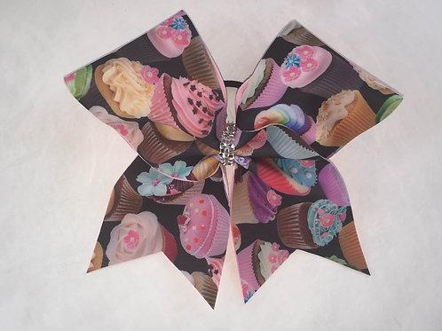 Cupcake Cheer Bow