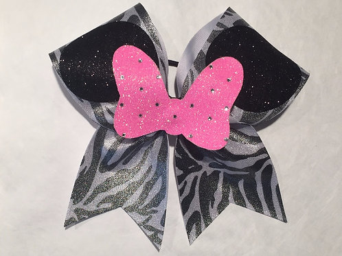 Zebra Minnie Mouse Bow