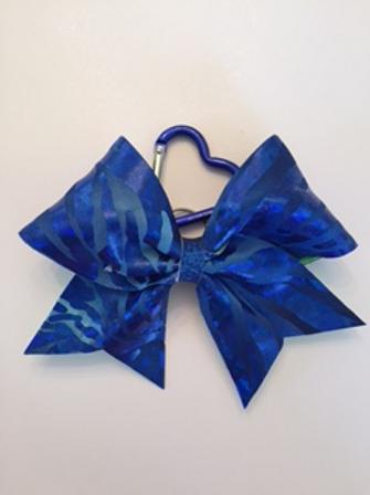 Blue Zebra Keychain bow