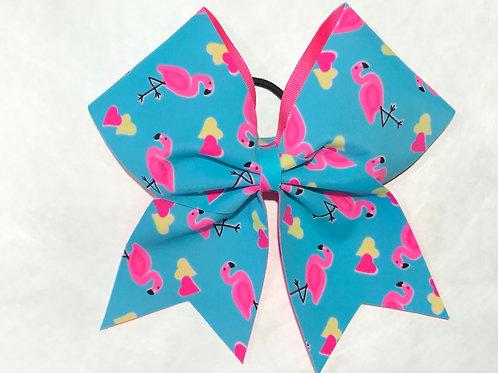 Flamingo Cheer bow