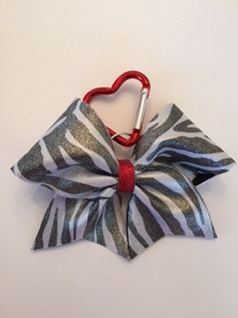 Zebra Keychain bow