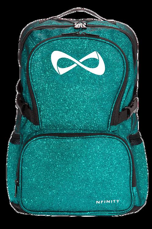 Teal Glitter Nfinity Backpack