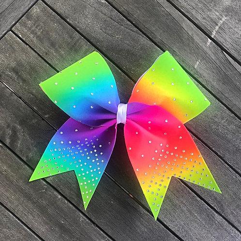 Neon Tie Dye Rhinestone Bow