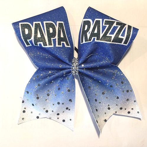 Paparazzi  Royal  Glitter Bow with Rhinestones