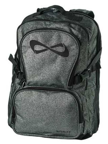 Grey Glitter Nfinity Backpack