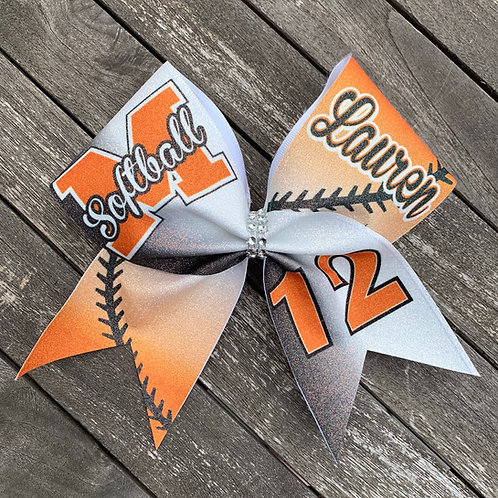 Sublimated Softball Bow