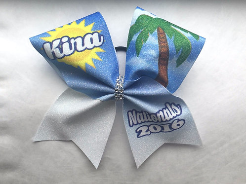 Glitter Florida Team Bow