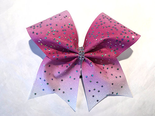 Glitter Ombre Cheer Bow with Spangles
