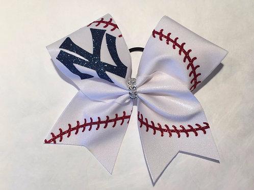 Yankees Cheer Bow
