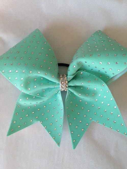 Tiffany Blue Cheer Bow with Rhinestones