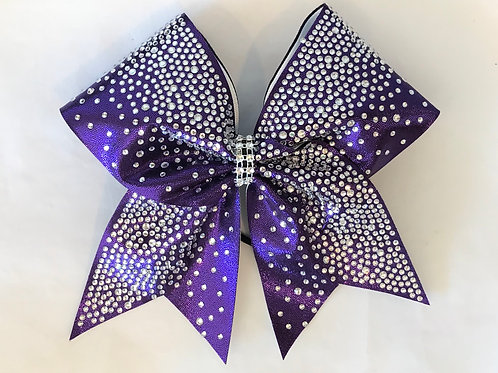 Purple Rhinestone Ombre Cheer Bow