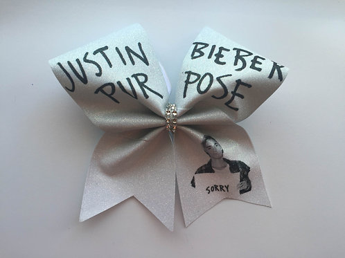 Justin Bieber Purpose Cheer Bow