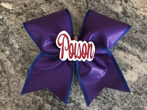 Custom Poison Cheer Bow