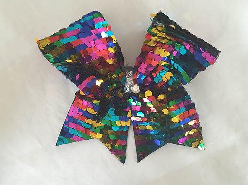 Rainbow Sequin Bow