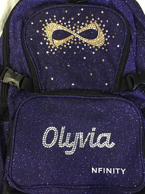 Customized Color Glitter Nfinity Backpack 6-7 Letters