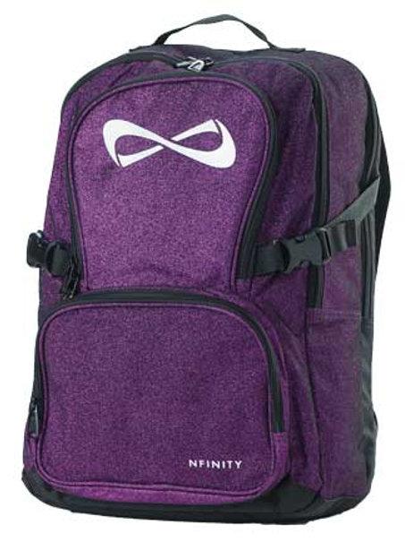 Purple Glitter Nfinity Backpack