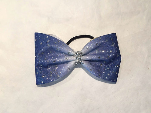 Tailless Ombre Bow with Rhinestones