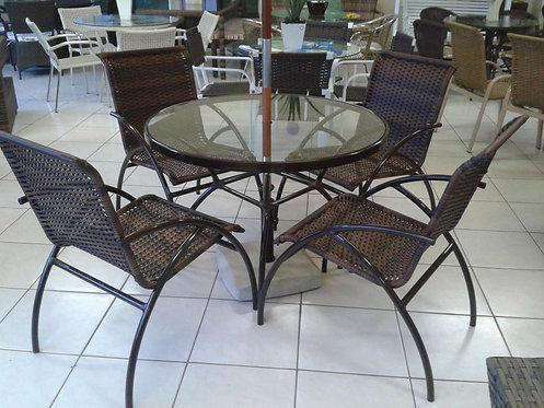 Conjunto de Mesa e Cadeiras Acácia