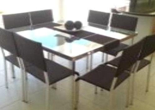 Conjunto de Mesa e Poltronas Anis