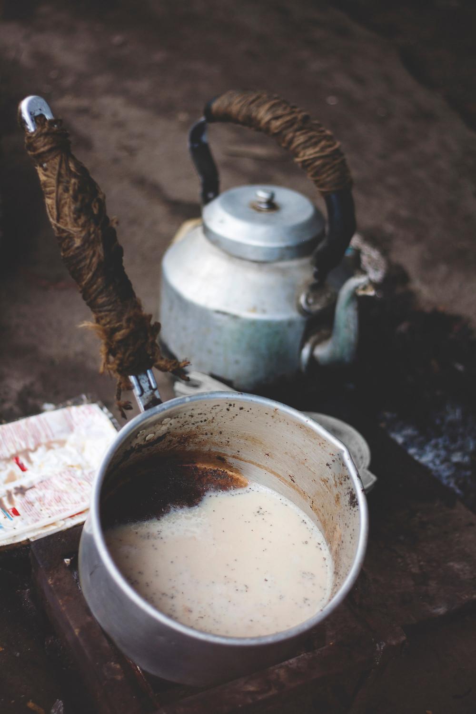 pot of chai and tea pot - tea and scandal