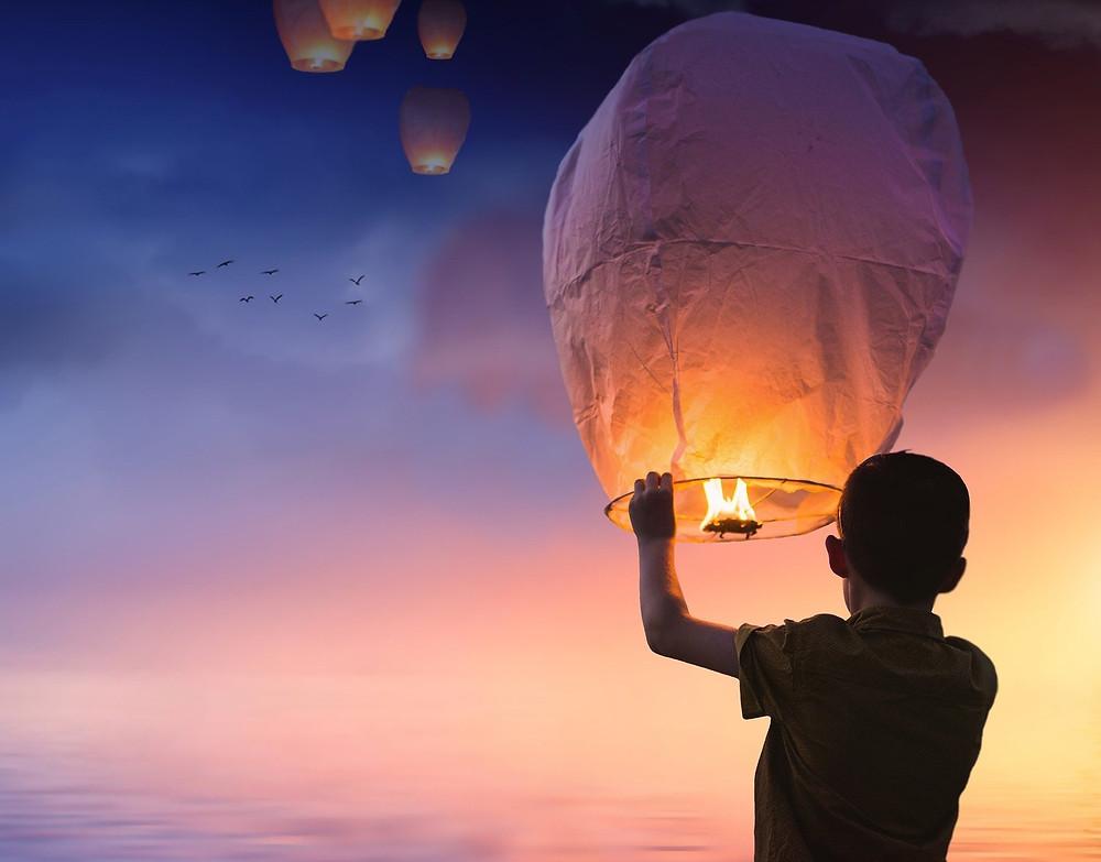 balão esperança