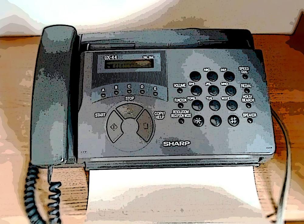 fax sharp ferramenta de vendas na década de 90