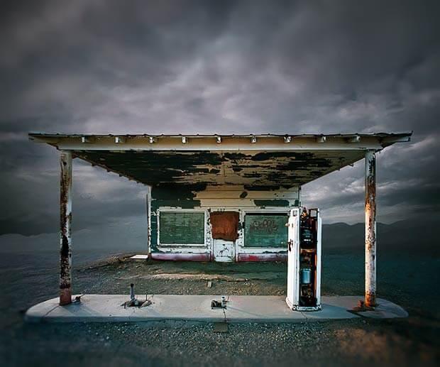 posto de gasolina antigo
