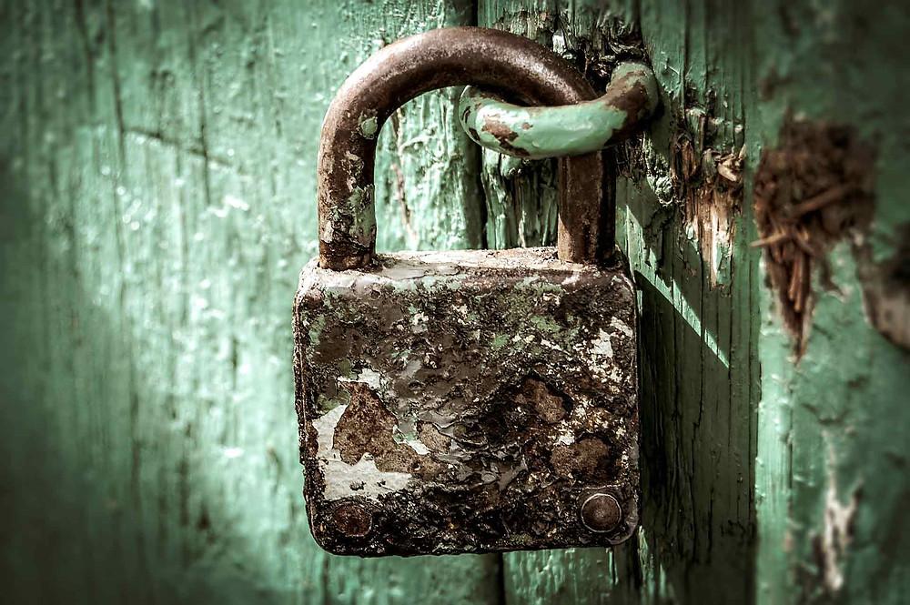 portão trancado