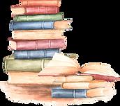livros em aquarela
