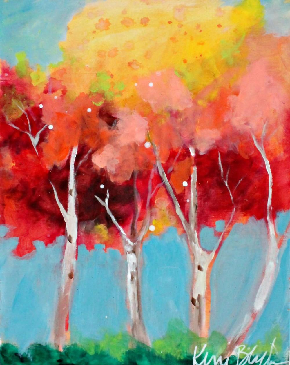 Pintura Fall Trees, de Kerri Blackman
