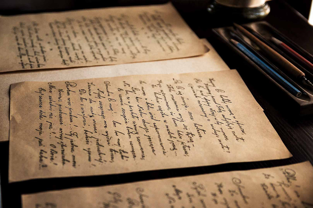 papeis escritos antigos texto vintage