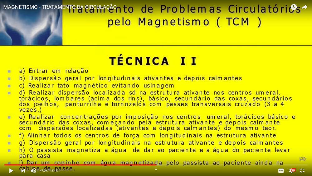 técnica 02 do tratamento de circulação pelo magnetismo