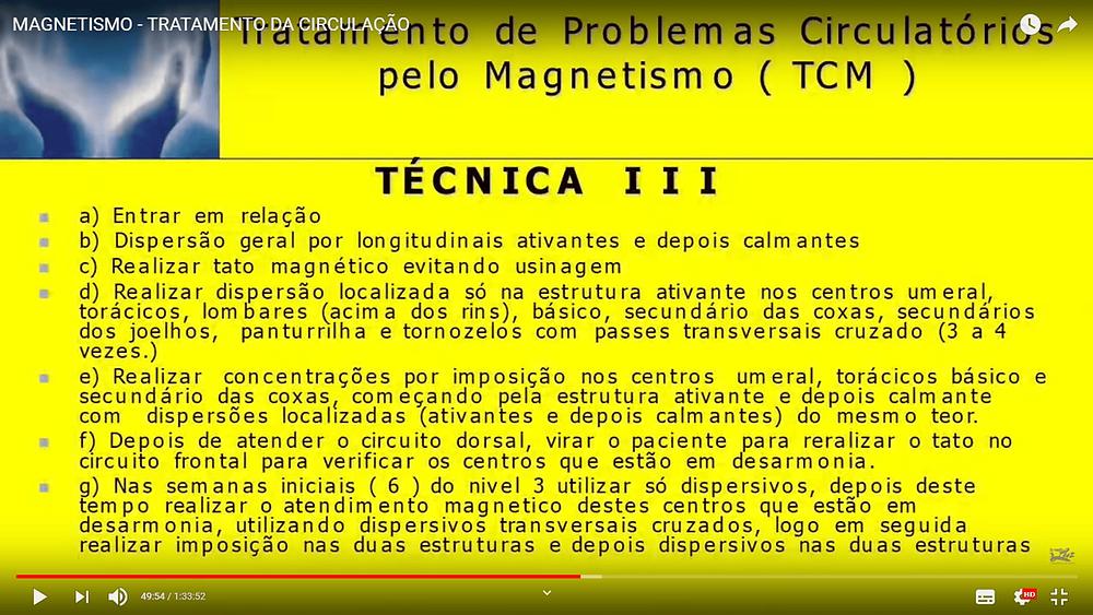 técnica 03 do tratamento de circulação pelo magnetismo