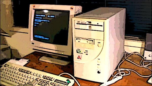 computador pc desktop antigo década de 90