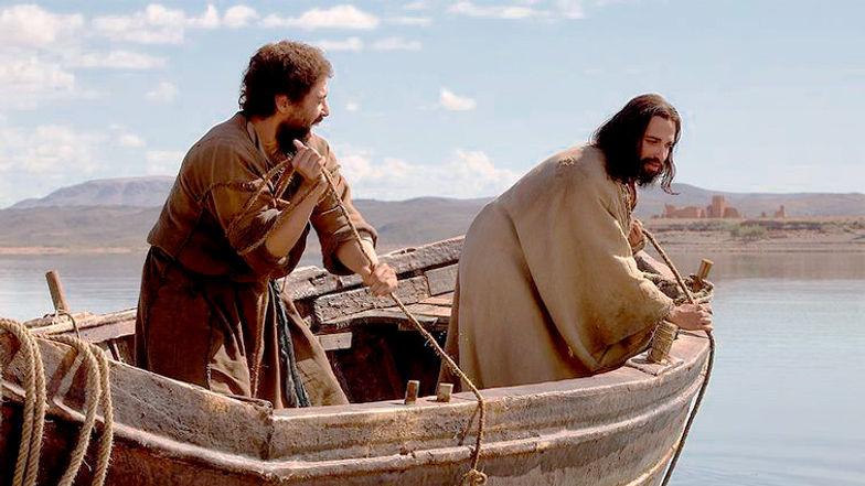 jesus e pedro no barco
