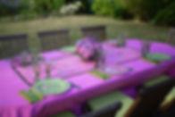 Table d'un déjeuner d'été