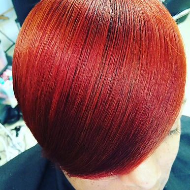 Vibrancy and shine!! #relaxedhair #healt