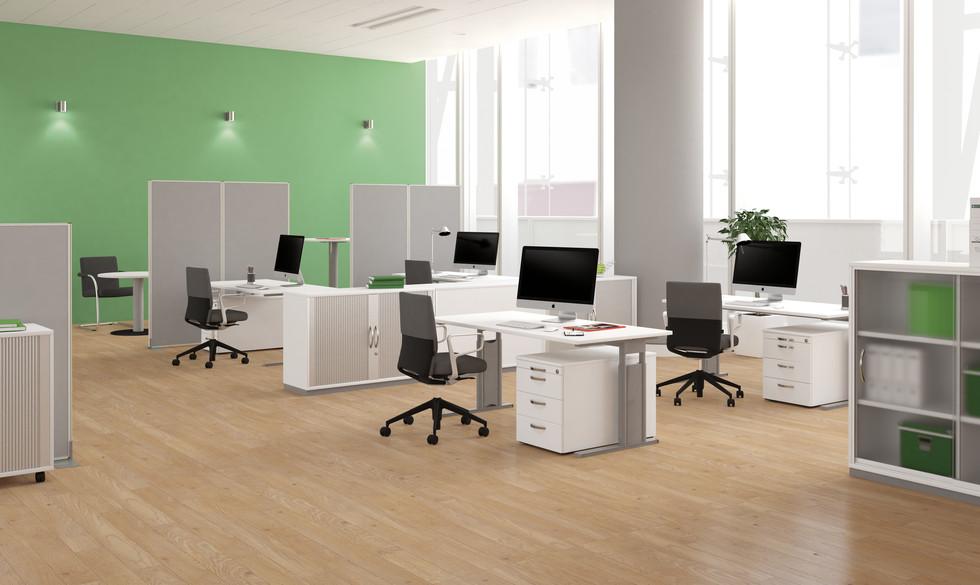 Büroeinrichtung von GeraMöbel, Februe, Palmberg vom Hunsrück von Büro Haase in Rheinböllen und Simmern.