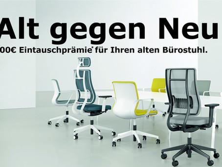 Alt gegen Neu. Eintauchprämie für Ihren alten Bürostuhl!